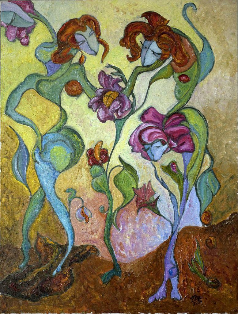 "Beginning. Oil on Canvas. 18""x24"""