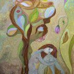 "Peaceful Dreams II. Oil on Canvas. 16""x20"""