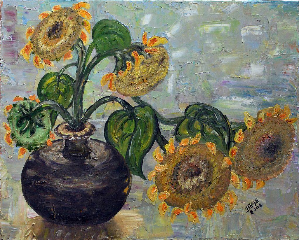 Sunflowers. Oil on Canvas