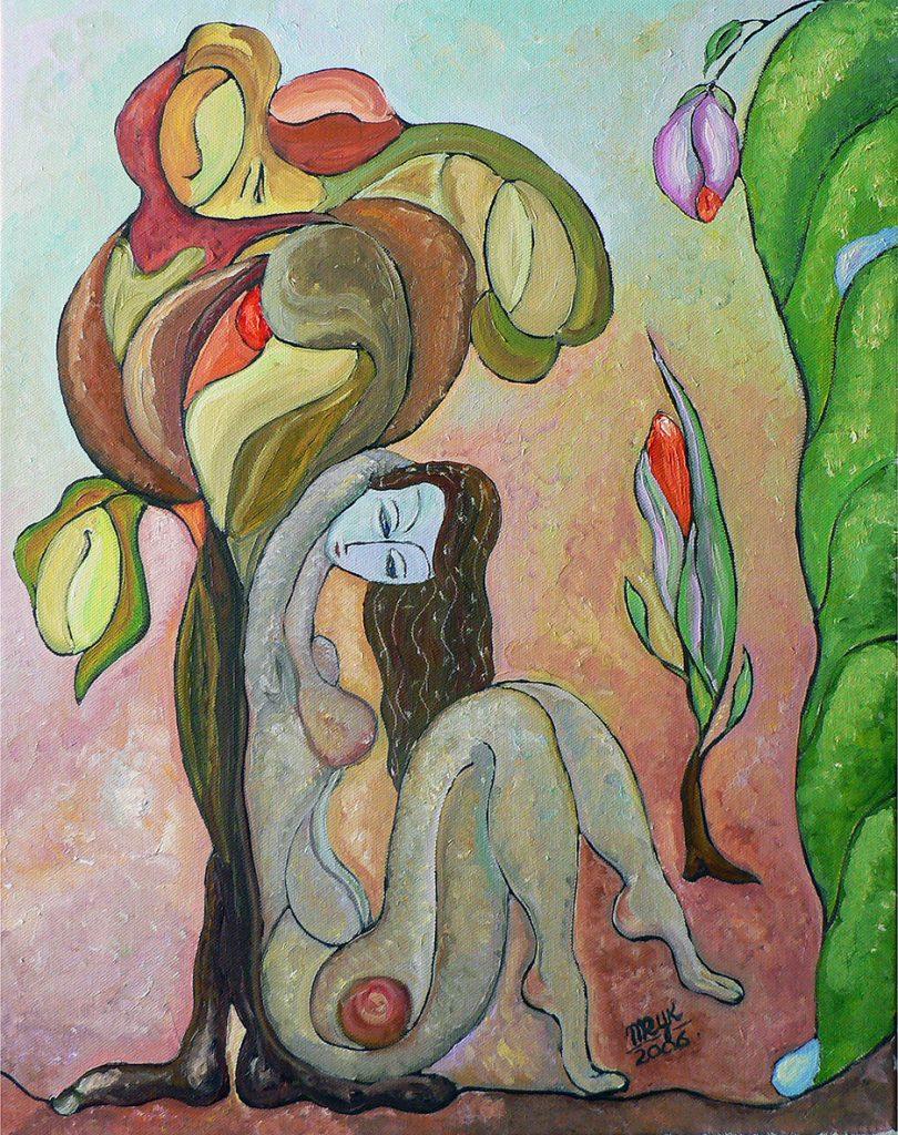 """Tree of Life II. Oil on Canvas. 16""""x20"""""""