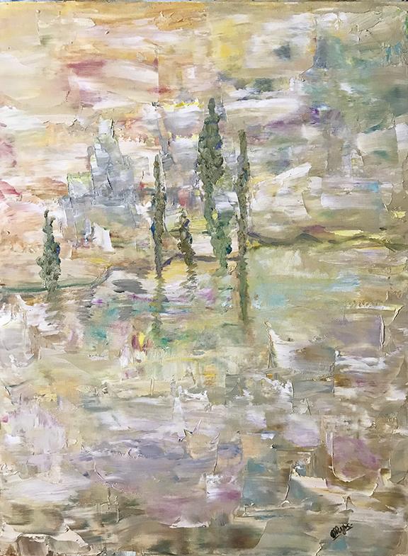 """Mirage 1. Oil on Canvas. 18"""" x 24"""""""